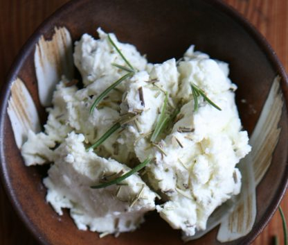 Green Dirt Farm Fresh Spreadable Cheese: Rosemary