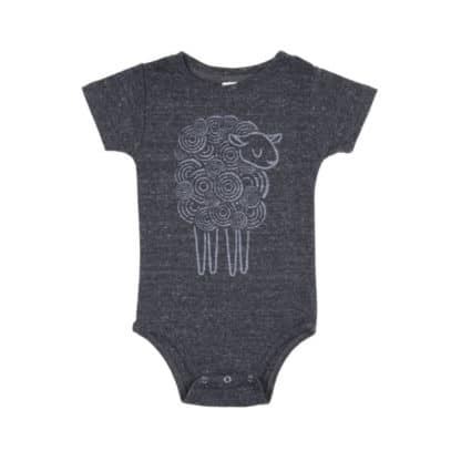 Green Dirt Farm Infant's Sheep Onesie 1