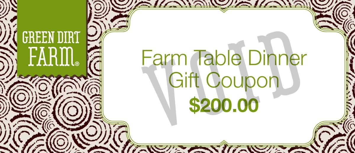 2019 farm table dinner gift certificate green dirt farm