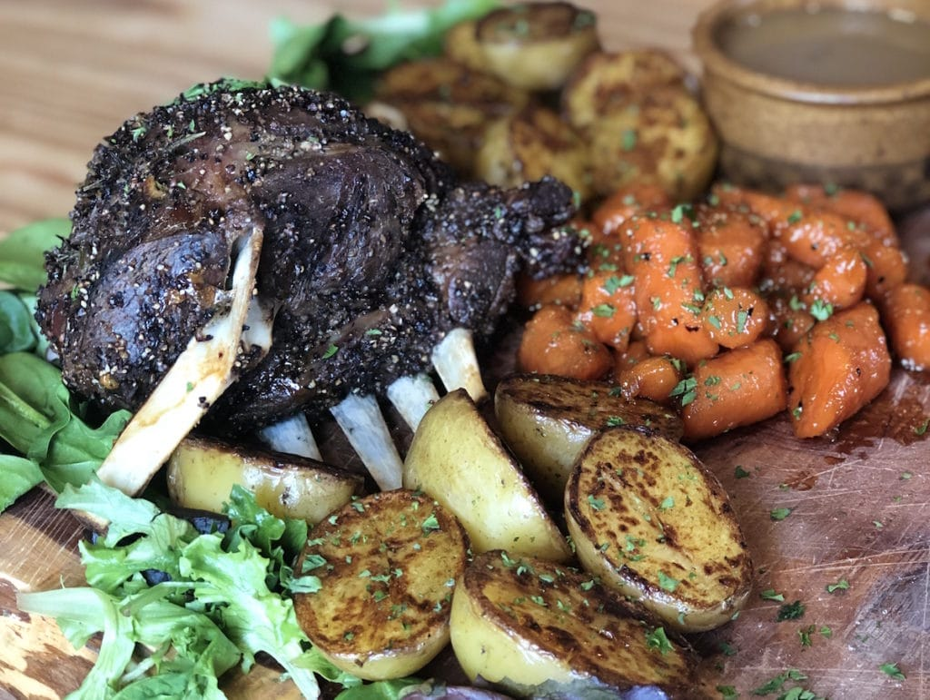 Try this lamb shoulder recipe with glazed carrots by Green Dirt Farm frozen lamb cuts.