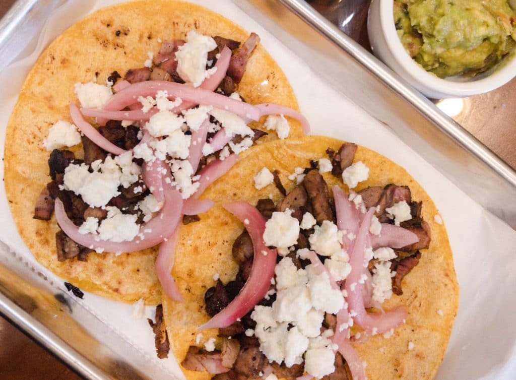 Top these smoked lamb tacos with your favorite sheep cheese from Green Dirt Farm.