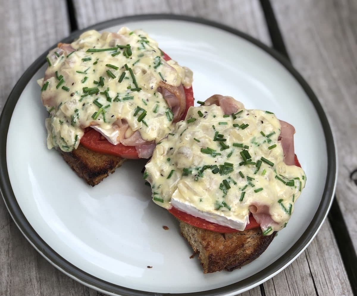 Try this bruschetta recipe with brie inspired cheese, Woolly Rind, from Green Dirt Farm.