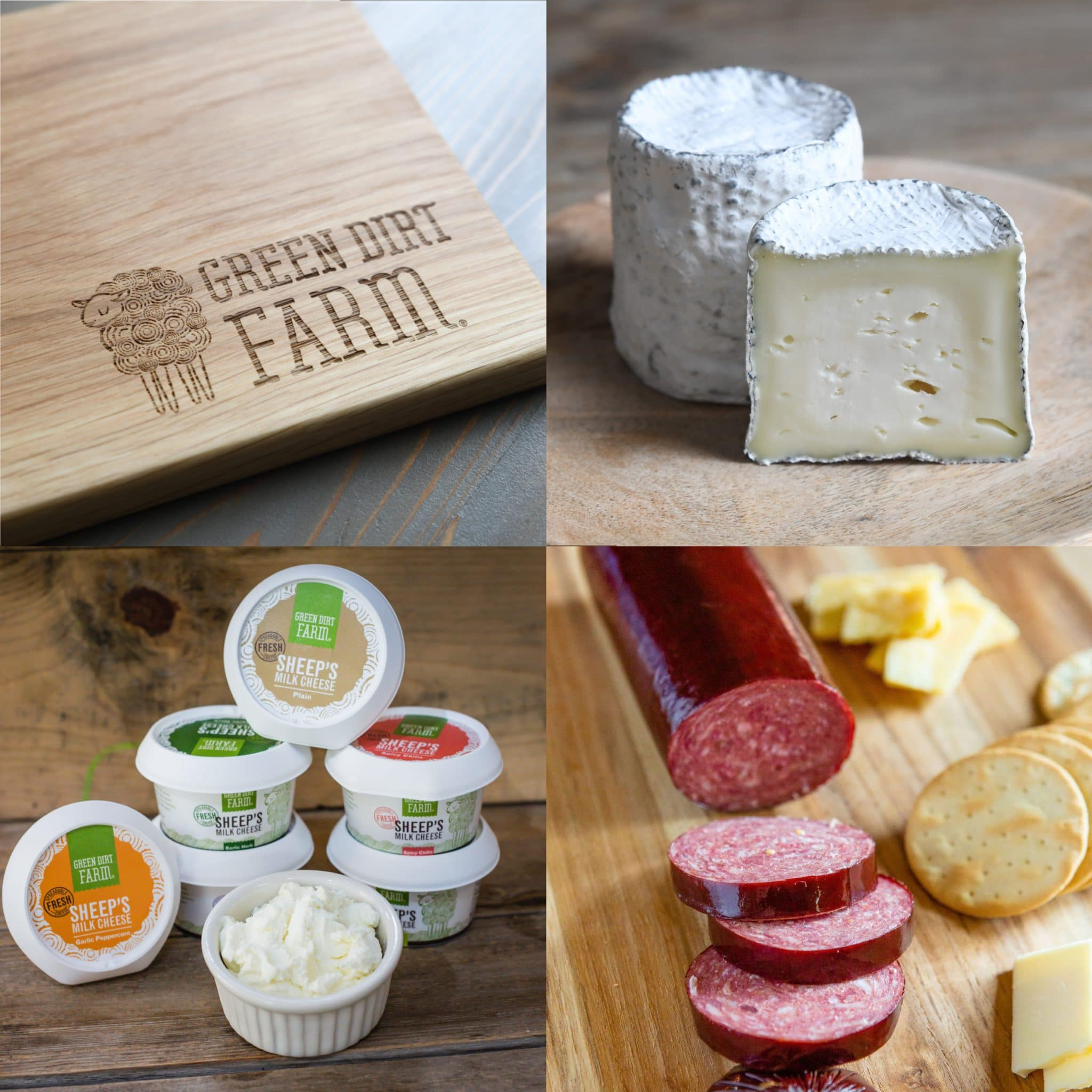 Ship your customizable care package for free, complete with fresh sheep cheese and charcuterie.
