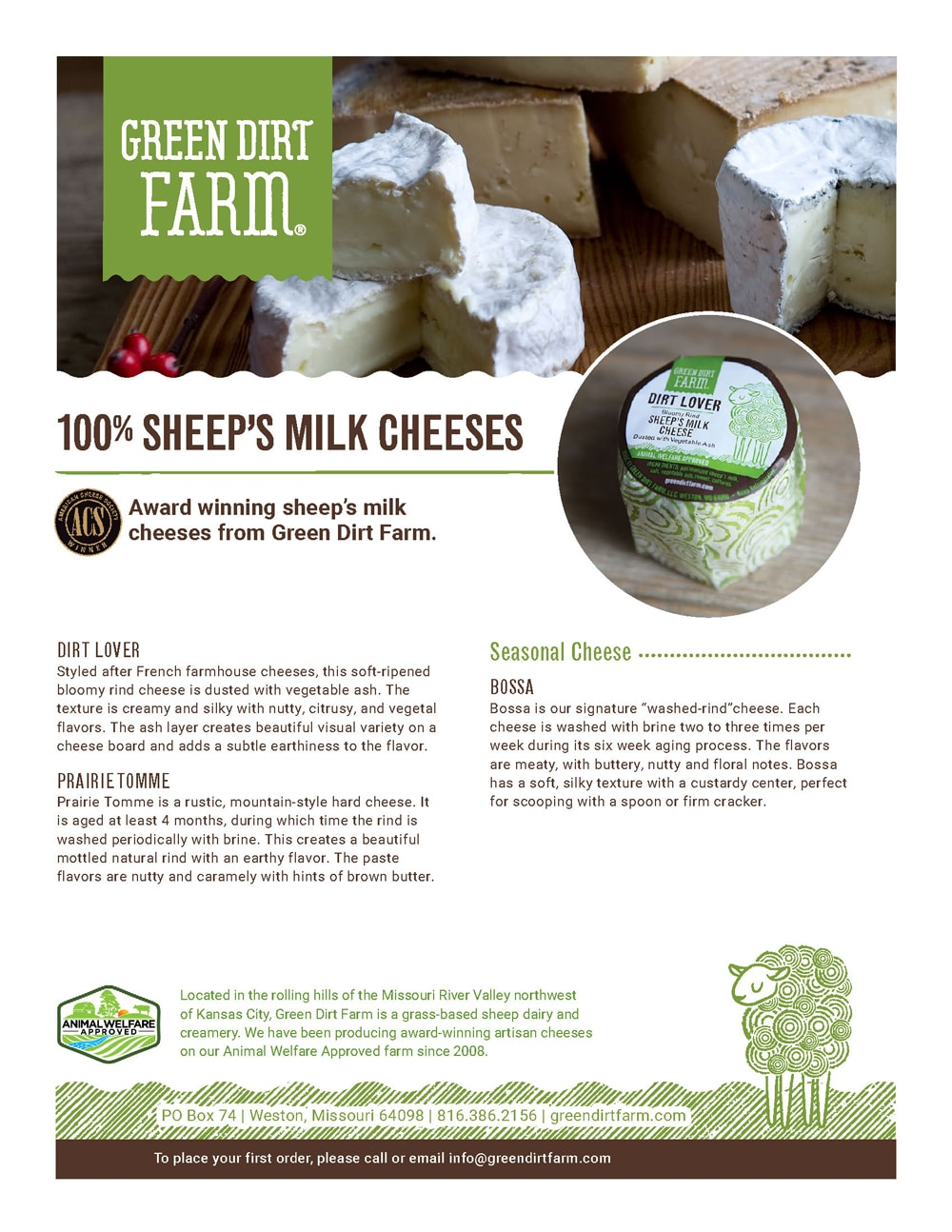 100% Sheep's Milk Cheeses Product Guide