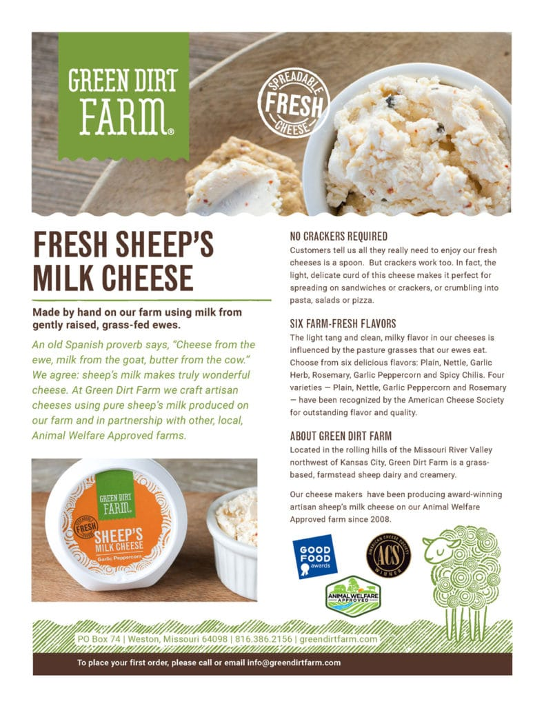 Fresh Sheep's Milk Cheeses Product Guide
